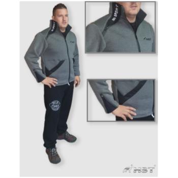 HST Dogsport pulóver fekete/szürke férfi