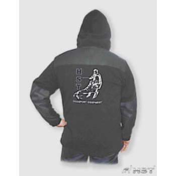 HST férfi fleece pulóver fekete/barna 13.