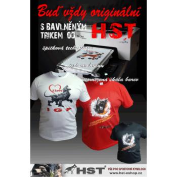 HST Pamut fehér póló I love IGP
