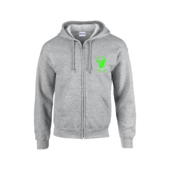 Swatdogs cipzáras sport grey pulóver neon zöld nyomással