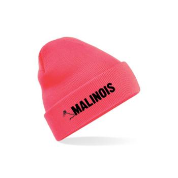 Téli sapka pink Malinois