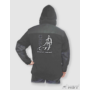 Kép 1/3 - HST férfi fleece pulóver fekete/barna 12.