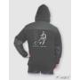 Kép 1/3 - HST férfi fleece pulóver fekete/barna 2.