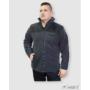 Kép 2/3 - HST férfi fleece pulóver fekete/barna 2.