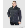 Kép 2/3 - HST férfi fleece pulóver fekete/barna 3.
