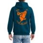 Kép 2/2 - Swatdogs pulóver legion blue neon narancs nyomással